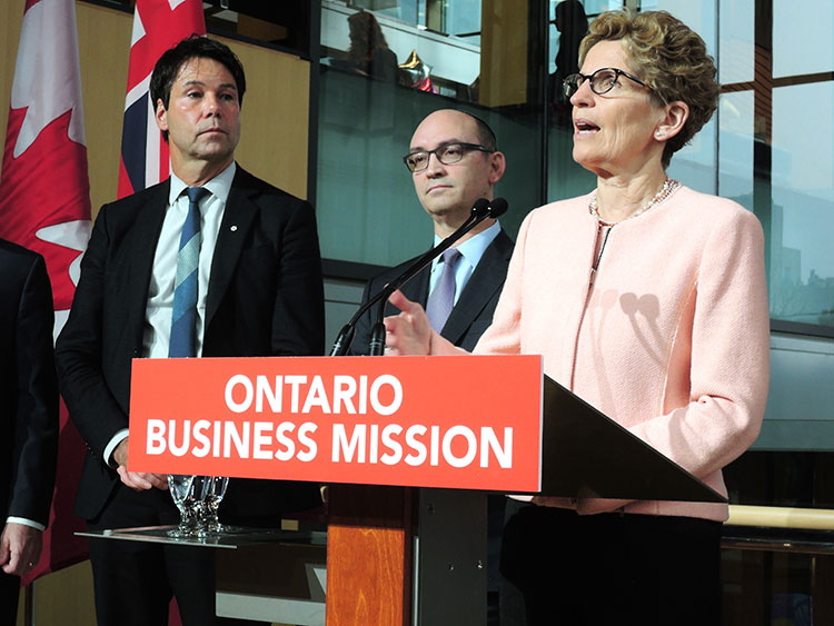 KWynne Ontario Business Mission